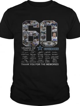 60 years of Dallas Cowboys Thank you for the memories t-shirt