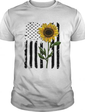 America flag sunflower Independence day 4th of July t-shirt