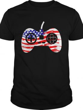 American Flag Video Game Controller Patriotic 4th of July t-shirt