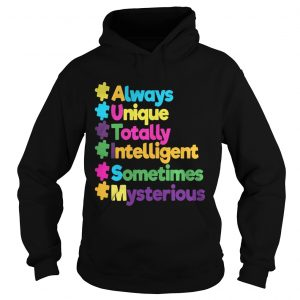 Autism always unique totally intelligent sometimes mysterious Hoodie shirt