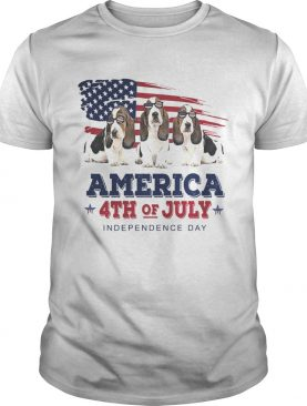 Basset Hound America 4th of July Independence Day t-shirt