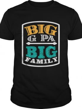 Big G Pa Big Family Grandpa Father's Day t-shirt