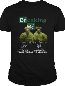 Breaking Bad 6 seasons thank you for the memories t-shirt
