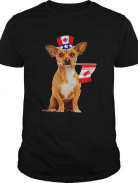 Canada – Maple Leaf Chihuahua Canadian Flags t-shirt