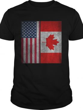 Canadian American Usa Canada Flag 4th Of July t-shirt