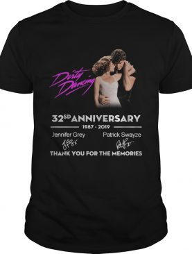 Dirty Dancing 32sd anniversary 1987 2019 Jennifer Grey Patrick Swayze signature thank you for the memories t-shirt