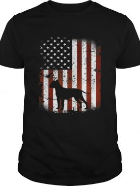 Dogo Argentino American Flag Dog 4th Of July t-shirt