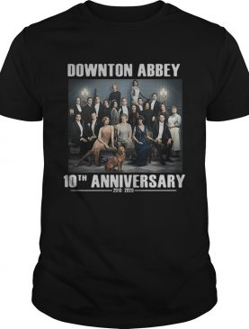 Downton Abbey characters 10th anniversary 2010 2020 t-shirt