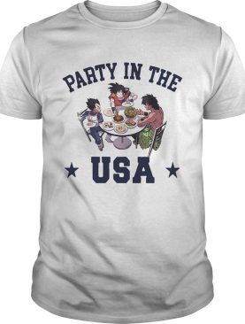 Dragon Ball characters party in the USA t-shirt