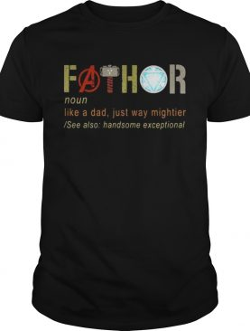 Father's day fathor like a dad just way mightier Iron Man t-shirt