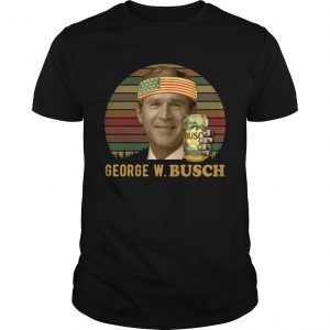 George W.Busch vintage sunset Unisex shirt