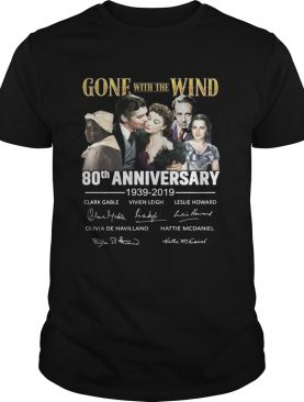 Gone with the wind 80th anniversary 1939 2019 t-shirt
