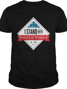 I stand with folds of honor t-shirt