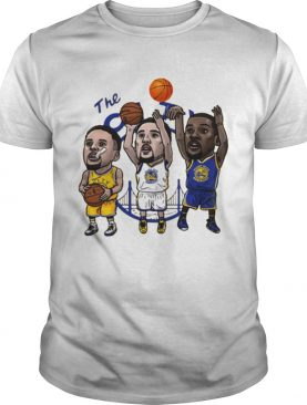 Klay Thompson Steph Curry Kevin Durant Cartoon Golden state t-shirt