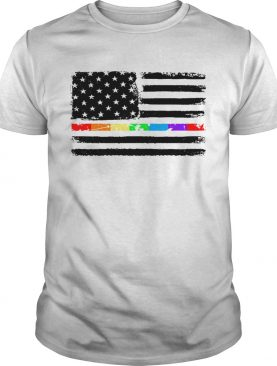 LGBT America flag Independence day 4th of July t-shirt