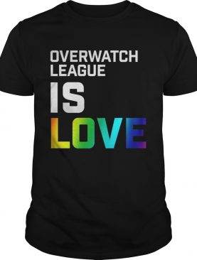 LGBT Overwatch league is love t-shirts