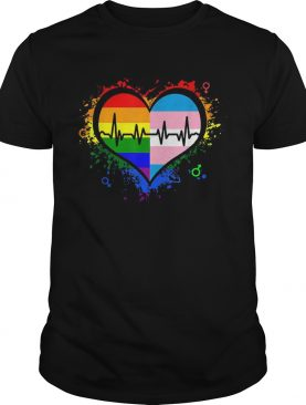 LGBT Pansexual Heartbeat t-shirt