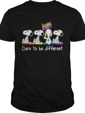 LGBT Snoopy dare to be different kiss my ass t-shirt