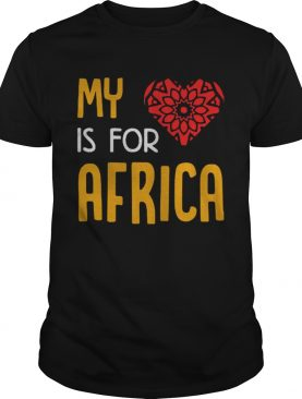 My heart is for Africa t-shirt