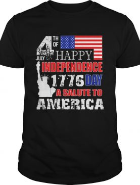 Original A Salute To America 4th Of July Independence Day Tee T-Shirt