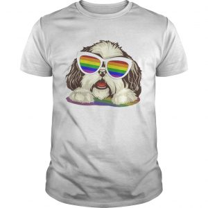 Original Shih Tzu Dog Gay Pride Flag Sunglasses Lgbt – Dog Lovers Unisex Shirt