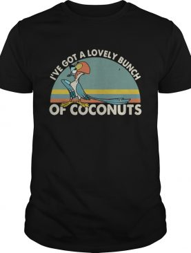Parrot I've got a lovely bunch of coconuts retro t-shirt