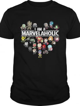 Premium I am a Marvelaholic Marvel Universe t-shirt