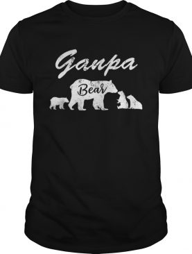 Premium Mens Ganpa Bear T With Three Cubs – Father Day Gifts Tee T-Shirt