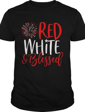Red White And Blessed 4th of July Cute Patriotic America t-shirt