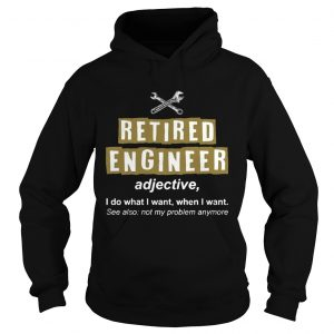 Retired Engineer Not My Problem Anymore Funny Hoodie T-Shirt