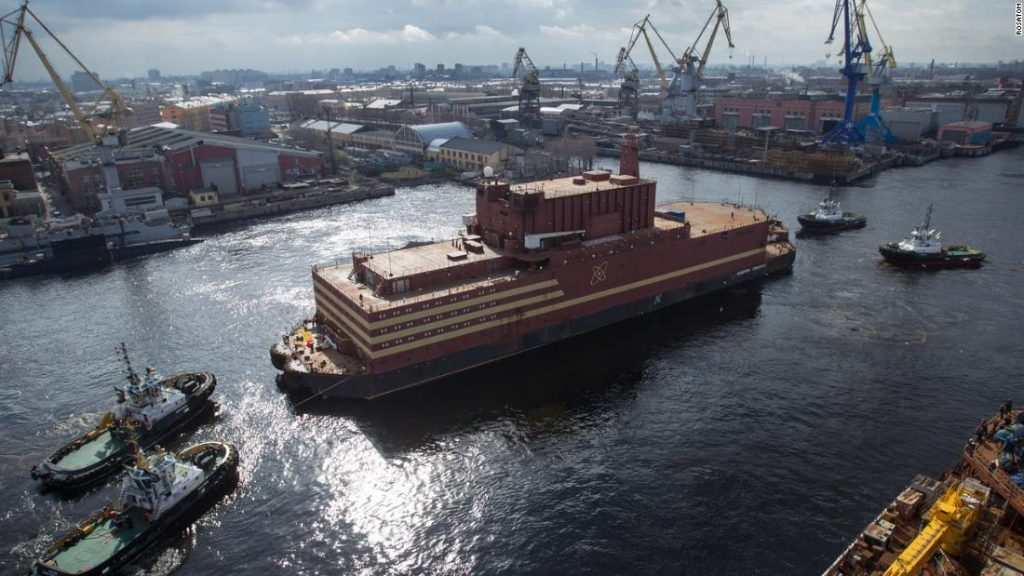 Russia plans to tow a nuclear power station to the Arctic. Critics dub it a 'floating Chernobyl'