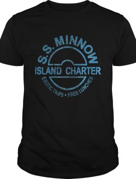 S S minnow island charter exotic trips free lunches t-shirt