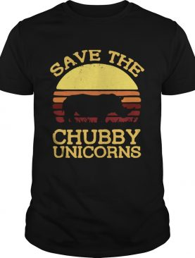 Save the chubby unicorns vintage sunset t-shirt