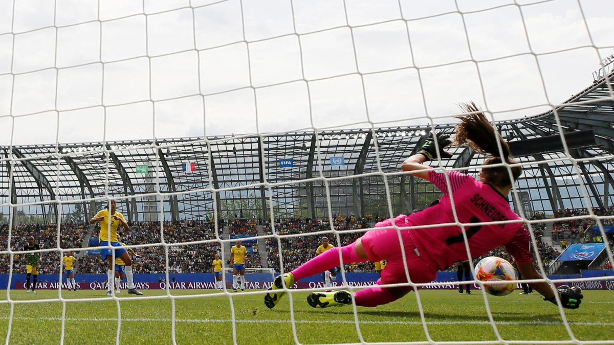 She's only 19 — and just made tremendous saves as Jamaica's goalie in the World Cup