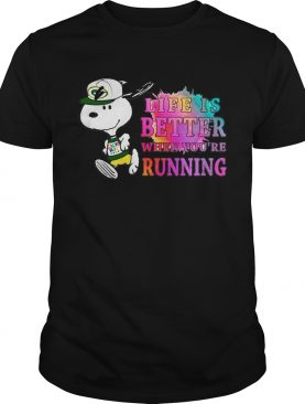 Snoopy Green Bay Packers life is better when you're running t-shirt