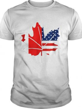 Sorry Canada Maple Leaf With American Flags t-shirt