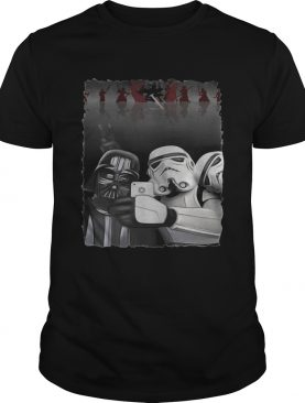Star Wars Darth Vader and Stormtroopers take a selfie t-shirt