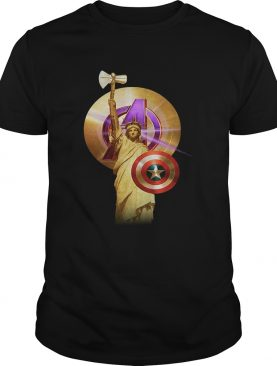 Statue of Liberty Captain America Avengers t-shirt