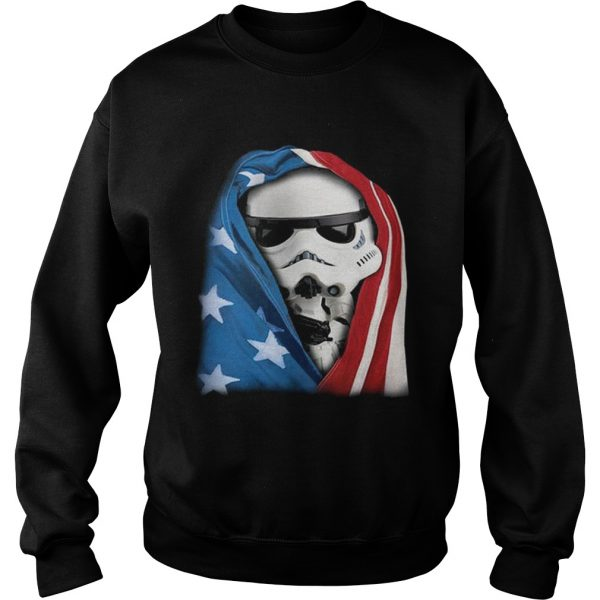 Storm Trooper Star War wearing US flag Sweat shirt