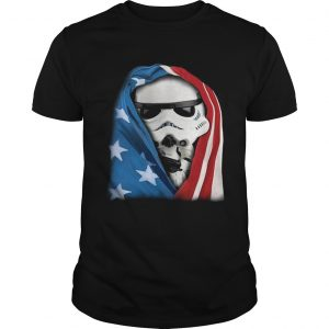Storm Trooper Star War wearing US flag Unisex shirt