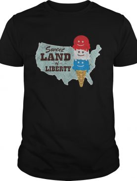 Sweet Land of Liberty Patriotic 4th of July Ice Cream t-shirt