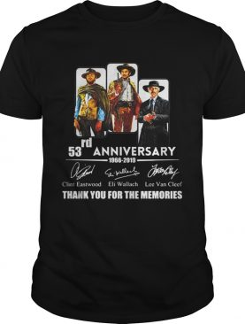 The Good the Bad and the Ugly 53rd anniversary 1966 2019 t-shirt