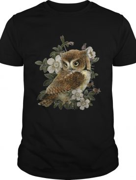 The Owl with flower t-shirt