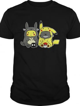 Totoro and Pikachu are best friends t-shirt