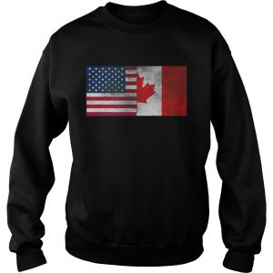 United States Of American And Canada Flag Fourth Sweat shirt