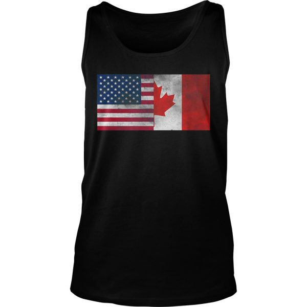United States Of American And Canada Flag Fourth Tank Top shirt