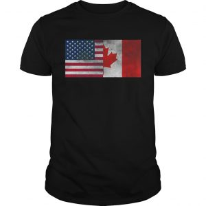 United States Of American And Canada Flag Fourth Unisex shirt