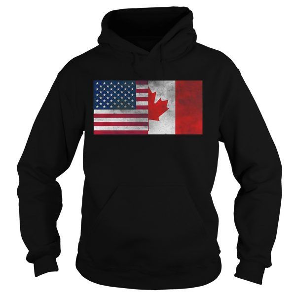 United States Of American And Canada Flag Fourth hoodie shirt