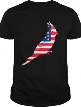 Usa Flag Cockatiel Independence Day Patriotic t-shirt