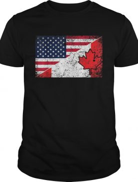 Useh Canadian Flag Usa Us Pride 4th Of July Canada t-shirt